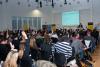 Interakcija predava?a s publikom na predavanju Daria Šuveljka