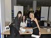 Voditeljica Silvija, organizatorica Dora i hostesa Maja na okupu - ljepša strana organizacije Web::Strategije