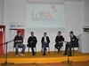 Panel rasprava (s lijeva redom): Stanislav Šredl, Goran Peuc, Robert Gelo, Viktor Marohni?, te Hrvoje Komljenovi? (moderator)